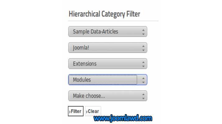 افزونه Hierarchical Category Filter