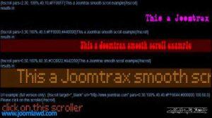 افزونه Horizontal Smooth Scroll برای جوملا