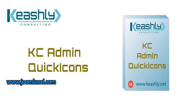 افزونه افزودن آیکون به کنترل پنل وب سایت جوملا KC Admin QuickIcons