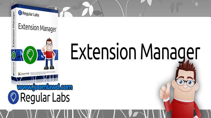 افزونه مدیریت محصولات Regular Labs Extension Manager