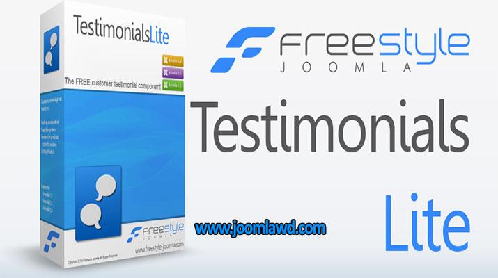 افزونه افزودن گواهینامه محصولات جوملا Freestyle Testimonials
