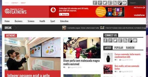 پوسته خبریFlatNews برای جوملا