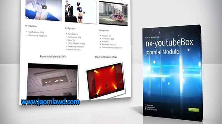 افزونه پخش فایل چند رسانه ای در سایت جوملا nx-youtubeBox