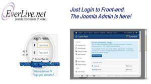 افزونه مدیریت و ورود خودکار به وب سایت جوملا EV Front-end Admin navigation