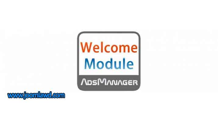 افزونه نمایش پیغام خوش آمد گویی سایت جوملا Welcome for AdsManager