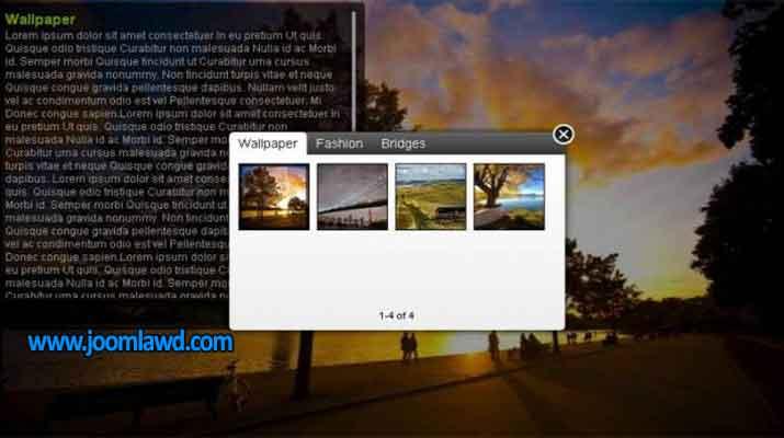 افزونه اسلایدر تصاویر وب سایت جوملا SMAGRID jquery grid slider gallery