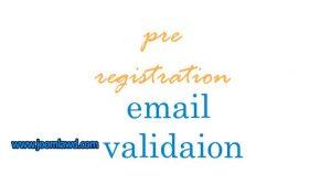 افزونه حفاظت از اسپم وب سایت جوملا Pre Registration Email Validation