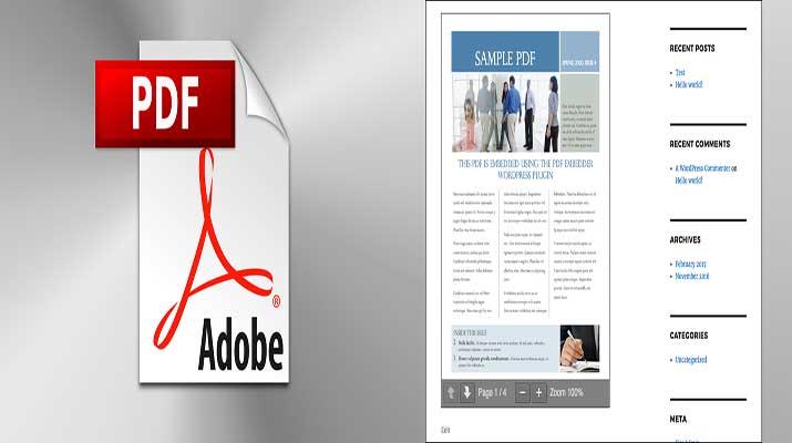 افزونه PDF Embedder