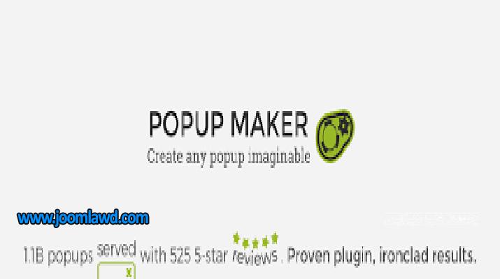 افزونه Popup Maker