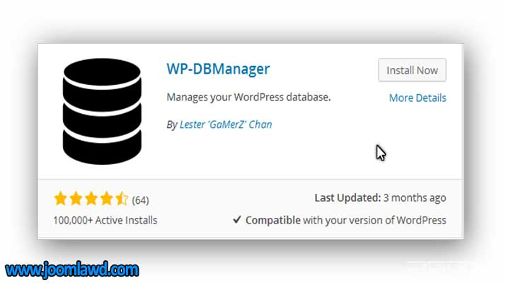 افزونه WP-DBManager