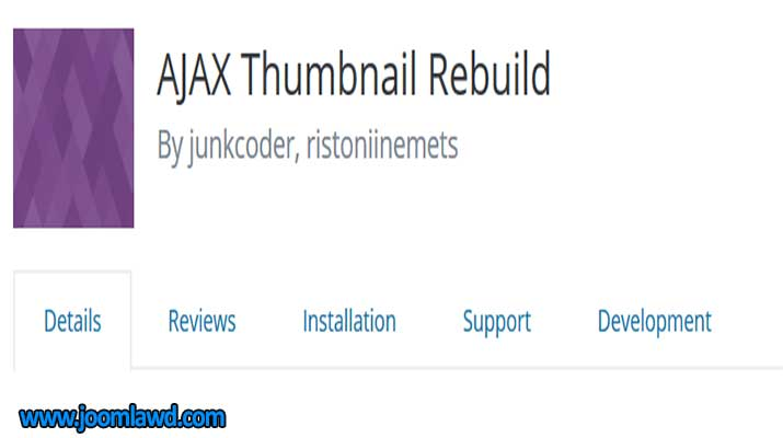 افزونه AJAX Thumbnail Rebuild