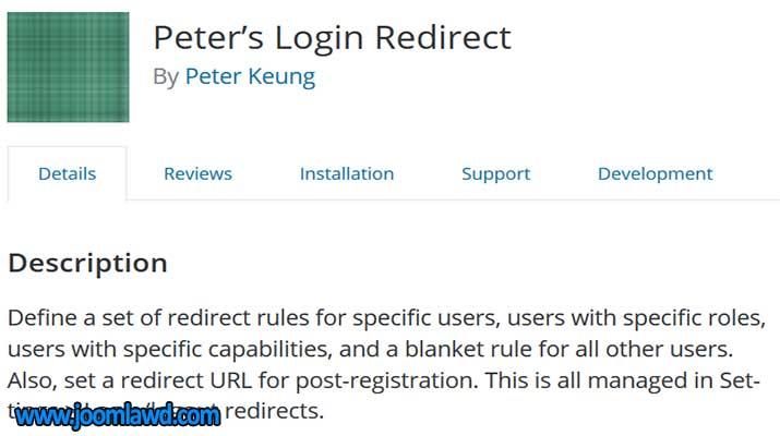 افزونه Peter's Login Redirect