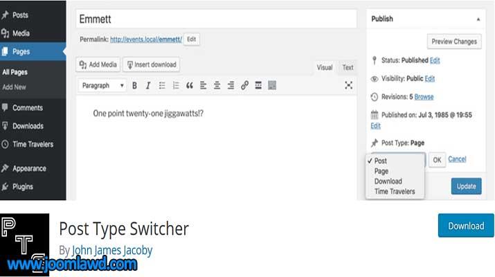 افزونه Post Type Switcher