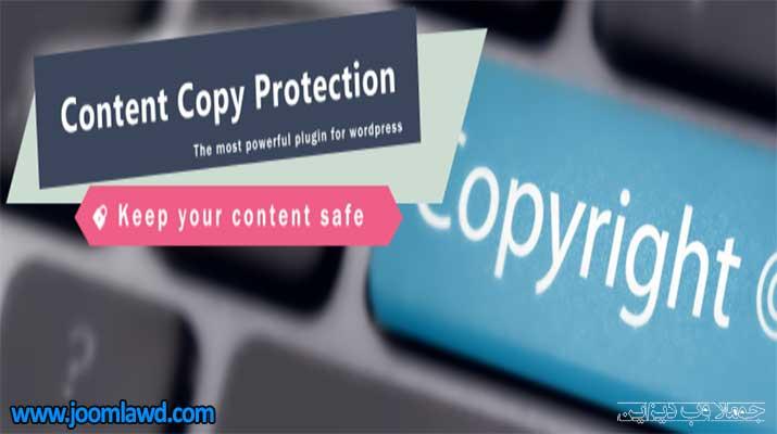 افزونه WP Content Copy Protection & No Right Click