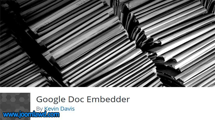 افزونه Google Doc Embedder