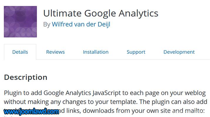 افزونه Ultimate Google Analytics گوگل آنالیز در وردپرس
