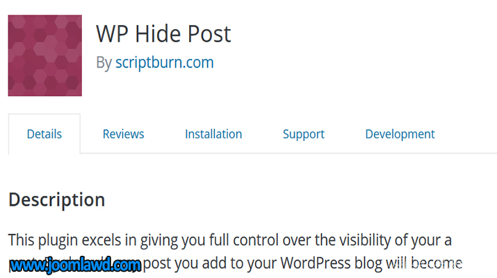 افزونه WP Hide Post پنهان کردن نوشته های وردپرس
