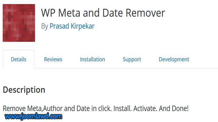 افزونه WP Meta and Date Remover حذف نام نویسنده و تاریخ مطالب