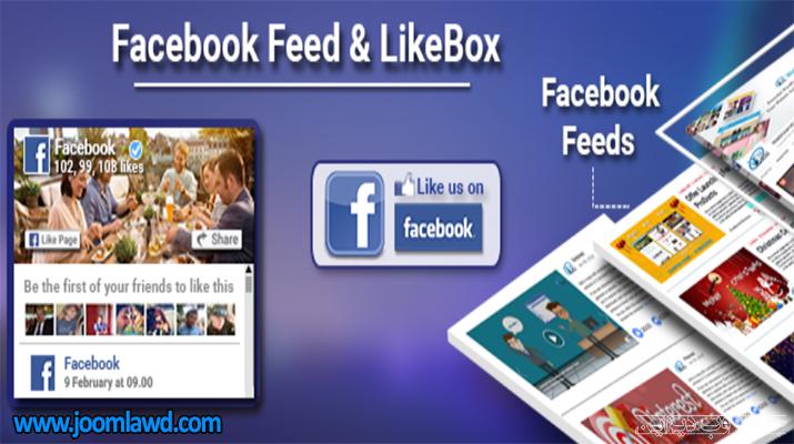 افزونه Feed & Like Box For Facebook لایک باکس فیس بوک در وردپرس