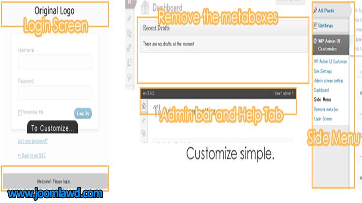 افزونه WP Admin UI Customize سفارشی سازی پیشخوان وردپرس